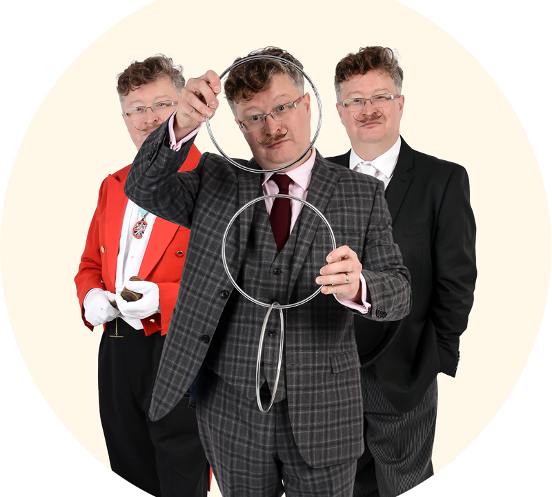 Three roles in one - magician, toastmaster, host